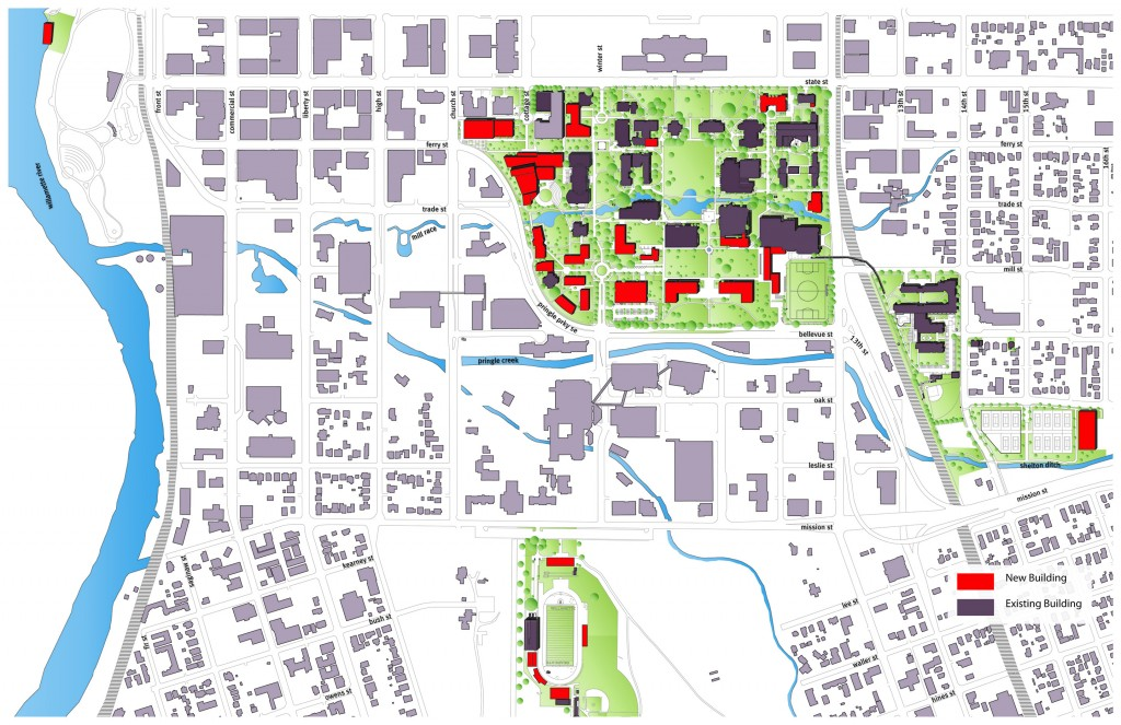willamette university campus map Willamette University Master Plan Hennebery Eddy Campus Architects willamette university campus map