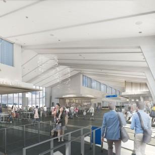 Interior rendering of PDX Terminal Balancing & Concourse E Extension