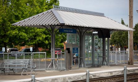 TriMet Blue MAX Line Gresham City Hall Station