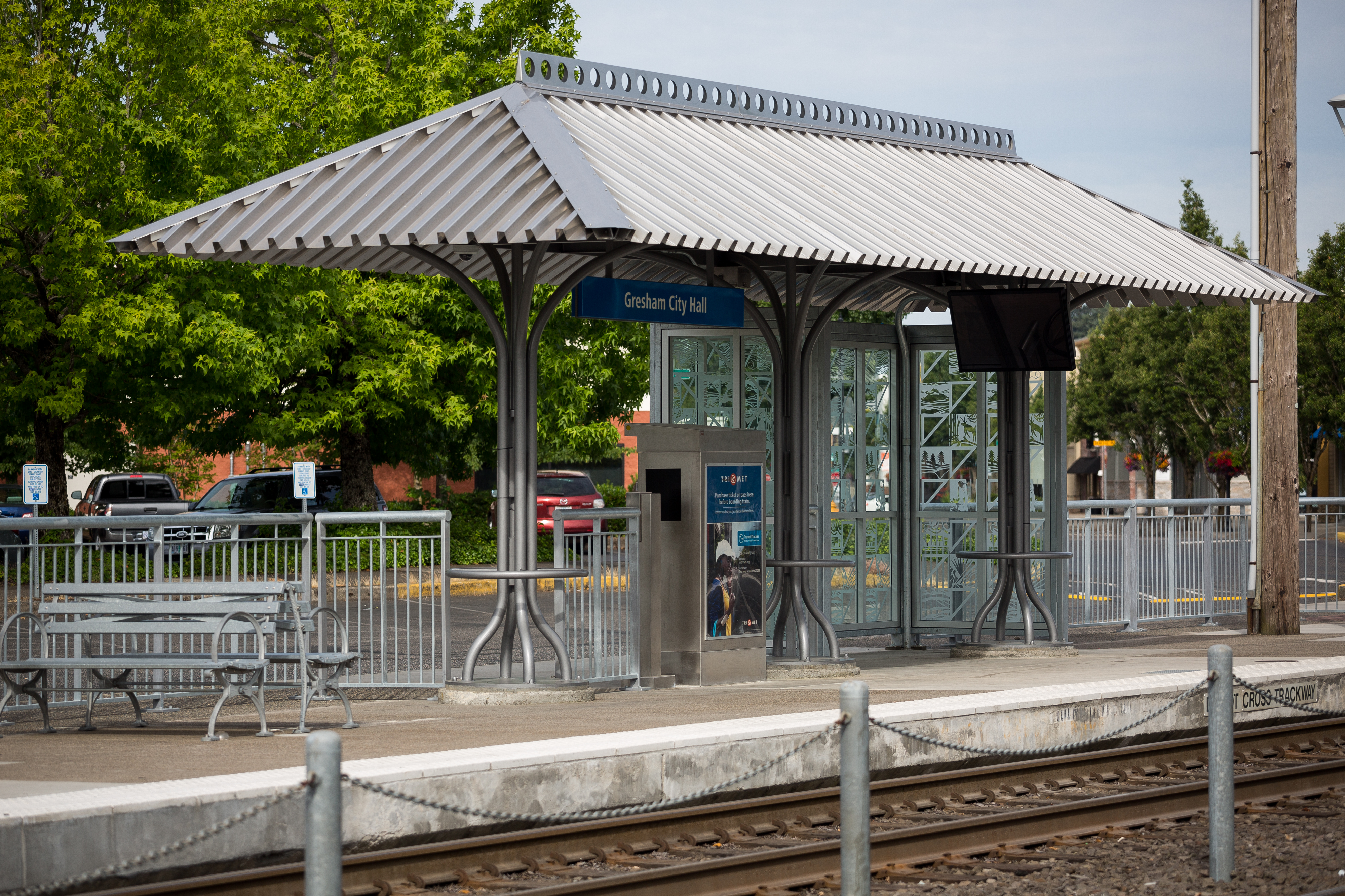 TriMet Blue MAX Line Gresham City Hall Station