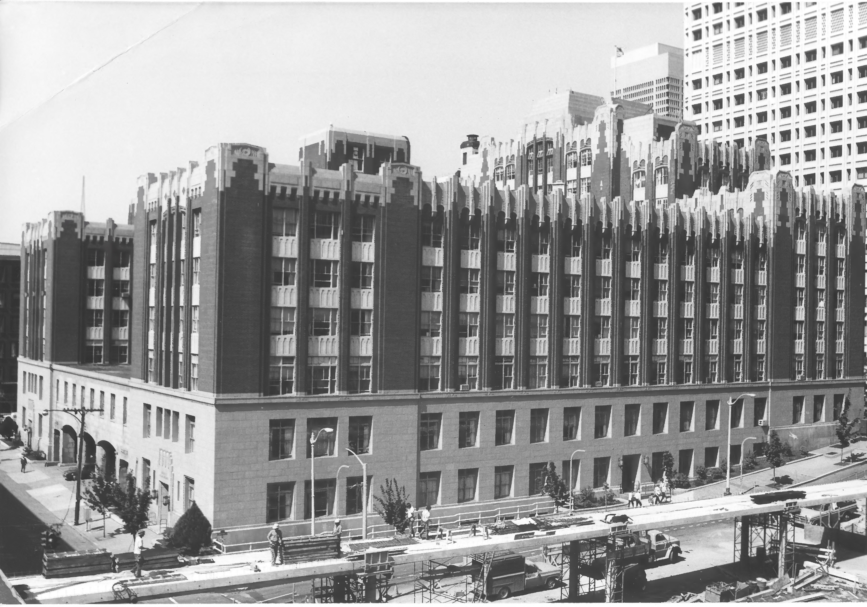 Historic Seattle Federal Building exterior condition assessment