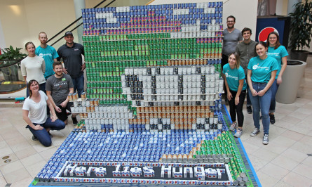 Here Lies Hunger Canstruction Portland Hennebery Eddy Architects INLINE