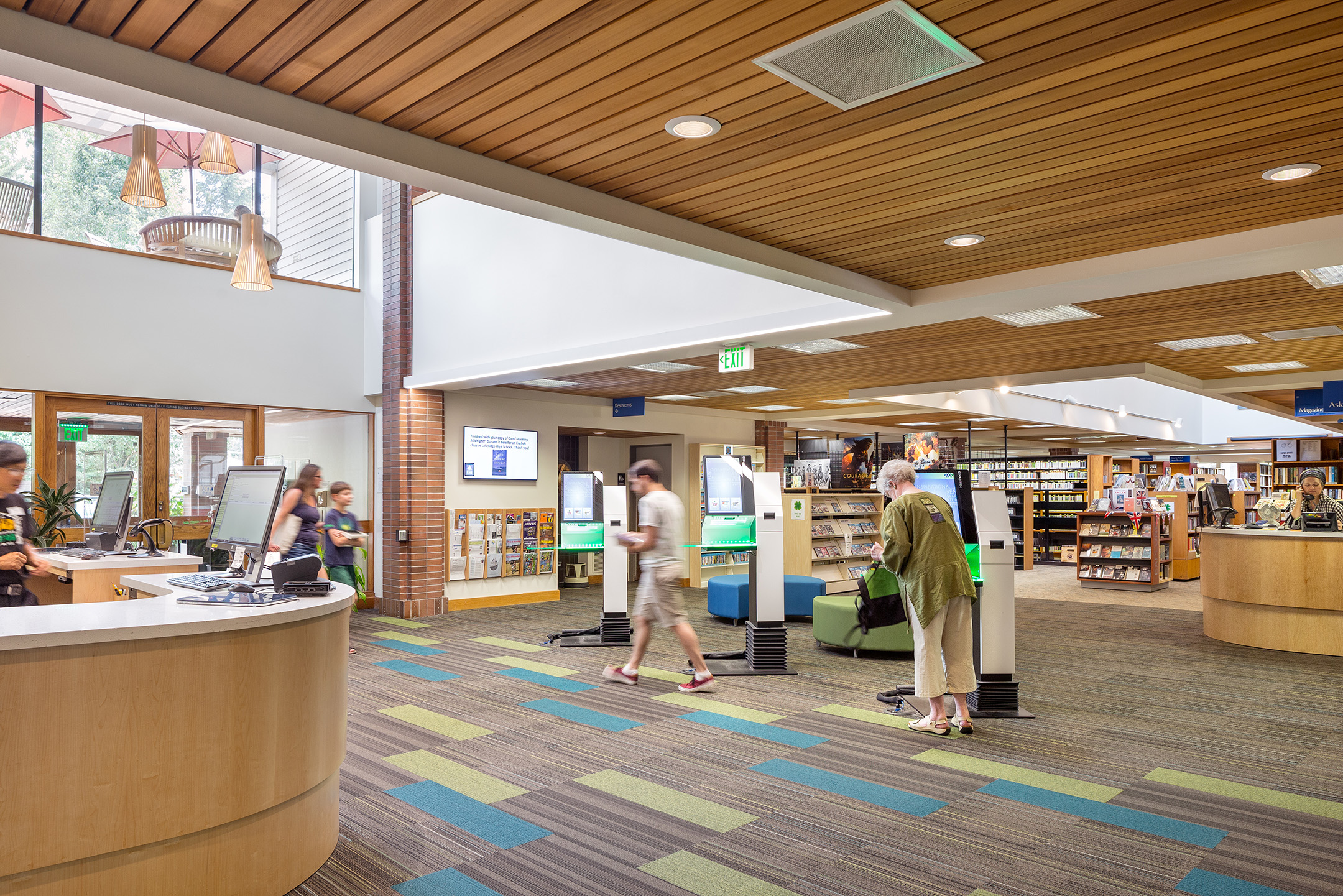 Lake Oswego Library interior design Hennebery Eddy Architects
