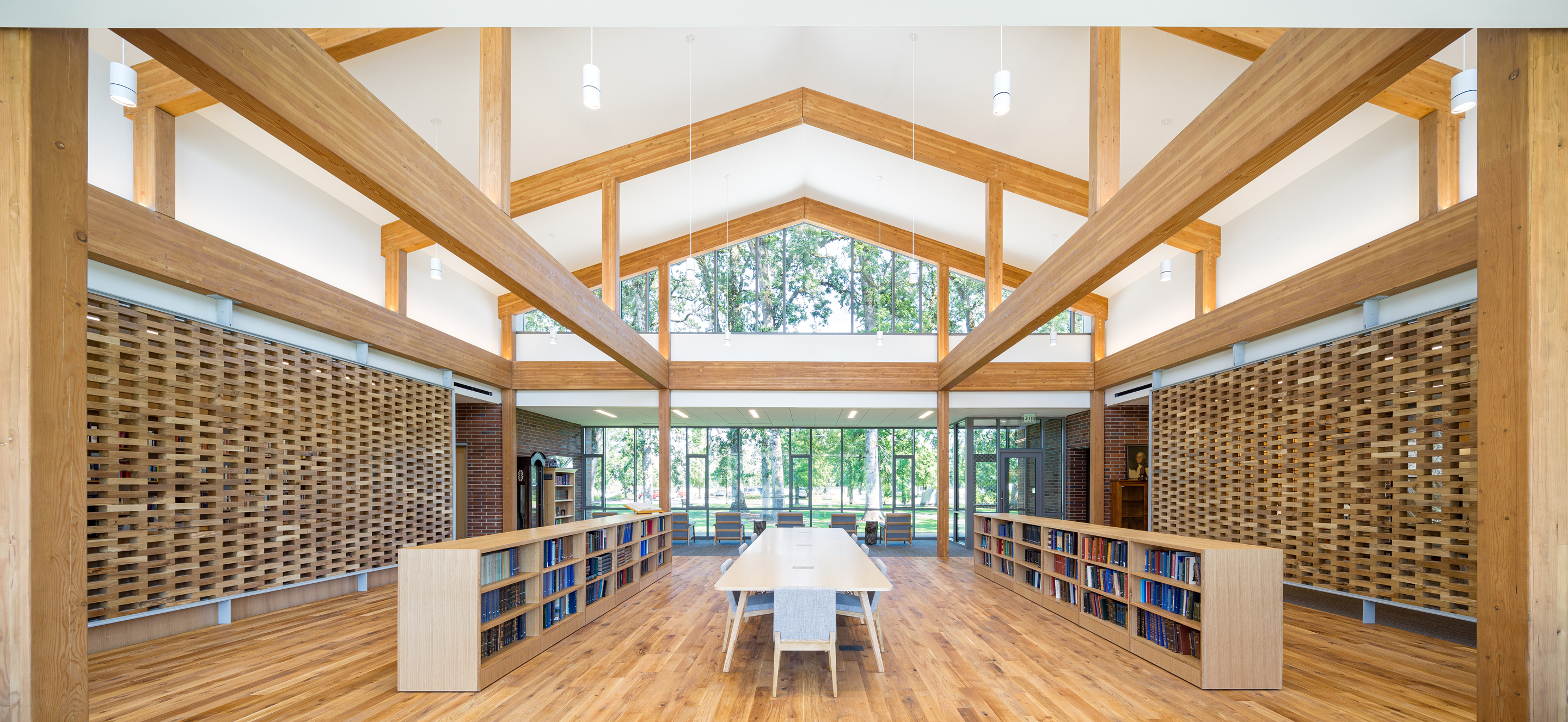 Oregon library design Hennebery Eddy Architects
