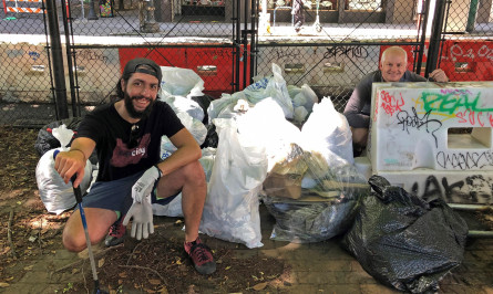 downtown Portland cleanup