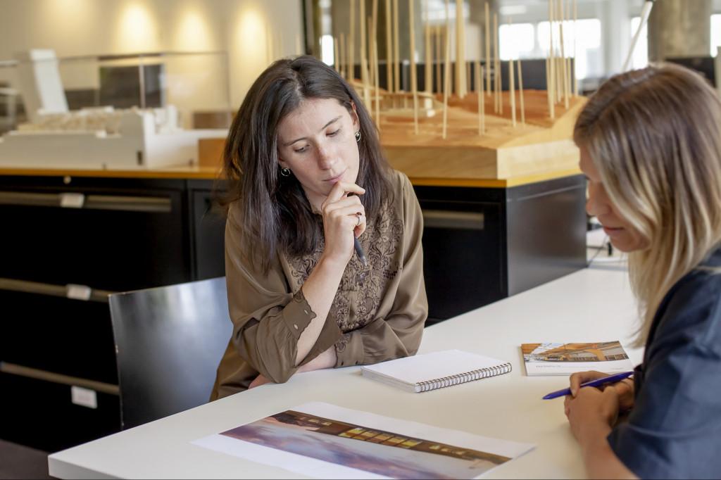 Design intern Natalie Waldram